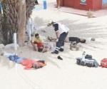 Balacera: 3 muertos y 2 heridos en playa