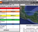 'Alerta Azul' por Franklin en Tamaulipas