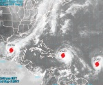 Impactan huracanes al Caribe y a México