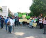 Protestan pescadores y agricultores ante la CFE