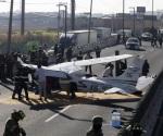 Aterriza sobre boulevard avioneta en ruta a Reynosa