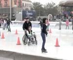 De la silla de ruedas …¡a la pista de hielo!