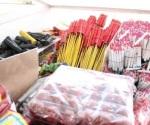 Decomisan 100 kilos de pirotecnia en zona del Mercado Argüelles