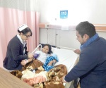 Satisface a enfermero ver sano a pacientes