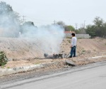 Con quemas dañan el medio ambiente irresponsables