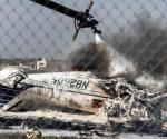 Se desploma avioneta en Laredo; hay tres muertos