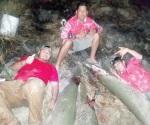 Pescan tres enormes monstruos en las profundidades del río Bravo