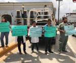 Protestan médicos en la plaza principal de Matamoros