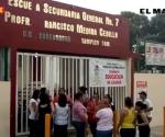 Vuelven a 'tomar' la Secundaria Federal número 7 de Tampico