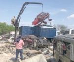Destruyen más de 800 vehículos que están decomisados