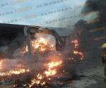 Incendio en maquiladora de reciclaje
