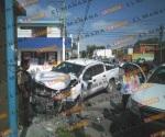 Choca unidad de seguridad privada; 2 lesionados