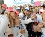 Se alza bandera de coalición para Maki en Margarita Maza de Juárez