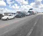 Bloquean tramo carretero federal