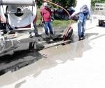 Normaliza Comapa servicio drenaje en colonias