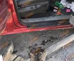Aseguran camioneta con cartuchos y ponchallantas en colonia Rancho Grande