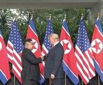 Se reúnen Trump y Kim en Singapur