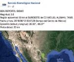 Inusual sismo de 3.6 Richter