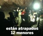 12 niños desaparecen en una cueva inundada de Tailandia
