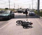 Salen disparados dos motociclistas en libramiento