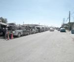 Caos vial genera tianguis de la Tamaulipas en los fines de semana