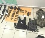 Aseguran arsenal en ataque