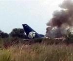 Cae avión de Aeroméxico en Durango