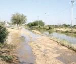 'Taponean' y desbordan un canal