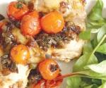 Pollo con tomatitos y vinagre de Módena