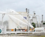Prueban capacidad de respuesta con simulacro de incendio en Pemex