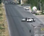 Captan por videovigilancia robo violento de camioneta que terminó en tiroteo