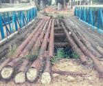 Piden reposición de viejo puente de fierro que se llevaron