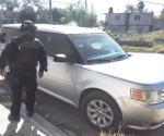 Aseguran vehículos robados