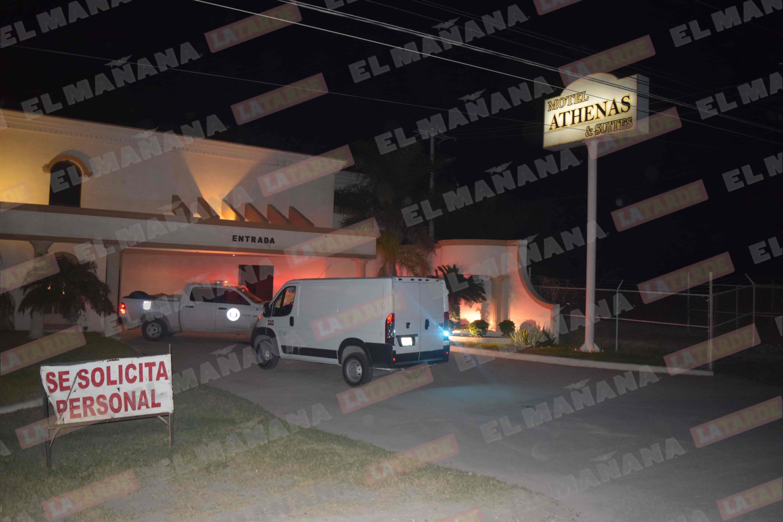 En el interior de este motel de paso fue asesinado un hombre.